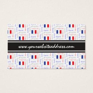 Cartão De Visitas Teste padrão francês da palavra de Liberté - de