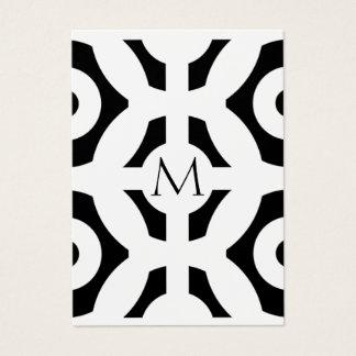 Cartão De Visitas Teste padrão geométrico