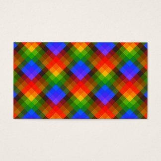 Cartão De Visitas Teste padrão geométrico colorido
