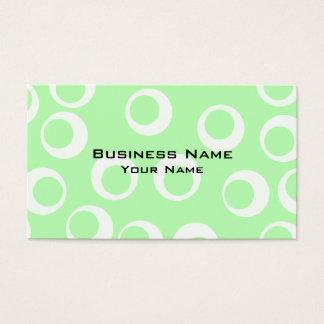 Cartão De Visitas Teste padrão retro verde e branco da luz -