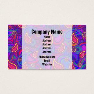 Cartão De Visitas Teste padrão roxo de Paisley
