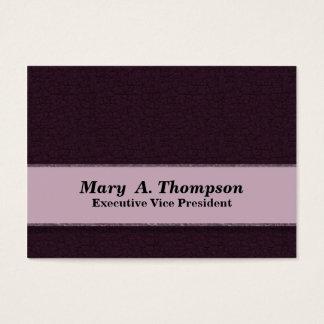 Cartão De Visitas Teste padrão roxo escuro da textura
