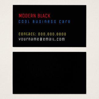Cartão De Visitas texto preto moderno da cor minimalista