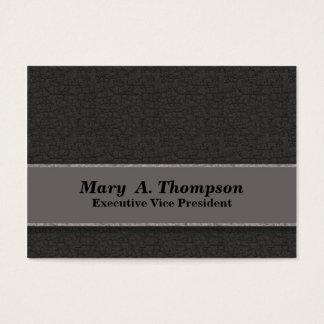 Cartão De Visitas Textura cinzenta