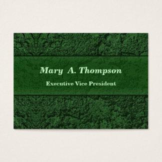 Cartão De Visitas Textura verde escuro do estuque