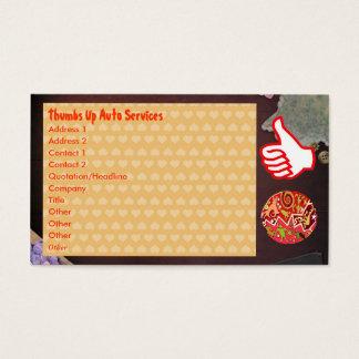 Cartão De Visitas THUMBSUP manuseia acima do emblema nativo da arte
