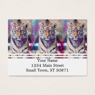 Cartão De Visitas Tigre do hipster - arte do tigre - tigre do