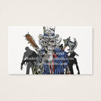 Cartão De Visitas Tio Sam do zombi