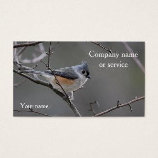 Cartão De Visitas Titmouse adornado