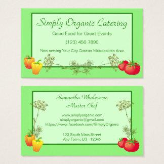 Cartão De Visitas Tomate da pimenta e cozinheiro chefe Gardner de