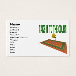 Cartão De Visitas Tome-o à corte