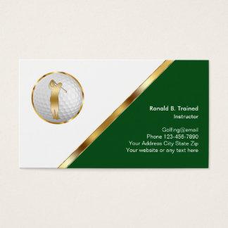 Cartão De Visitas Treinamento elegante do golfe