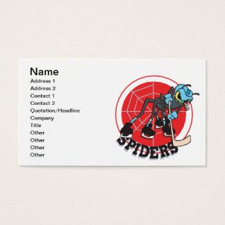 Cartão De Visitas Vão as aranhas
