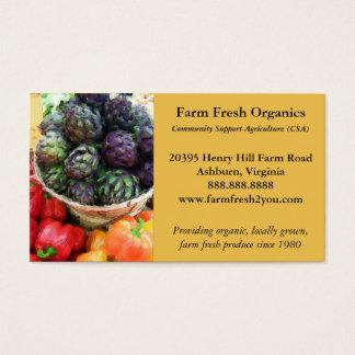 Cartão De Visitas Vegetais do mercado dos fazendeiros das pimentas
