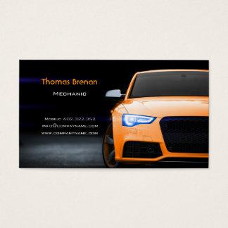 Cartão De Visitas Velocidade rápida do carro alaranjado automotriz