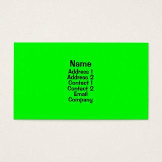 Cartão De Visitas Verde-claro