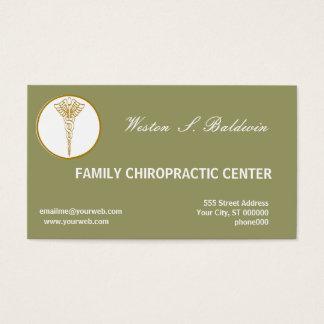 Cartão De Visitas Verde prudente médico do doutor Costume Cor da
