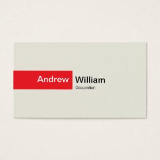 Cartão De Visitas Vermelho elegante