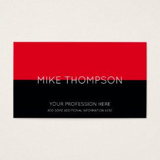 Cartão De Visitas vermelho & preto, simples, legal & moderno