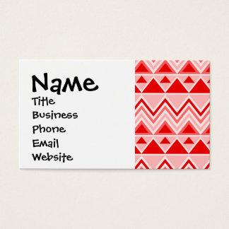 Cartão De Visitas Vermelho tribal asteca de Chevron dos triângulos
