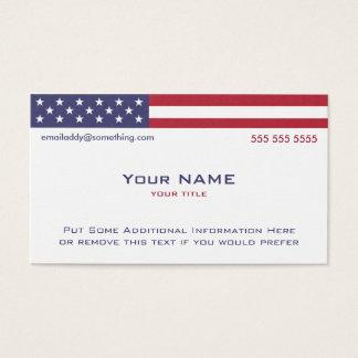 Cartão De Visitas Versão 2 de bandeira americana