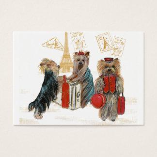 Cartão De Visitas Viagem dos yorkshires terrier
