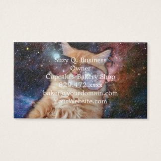Cartão De Visitas Vidros do gato - gato dos óculos de sol - espaço