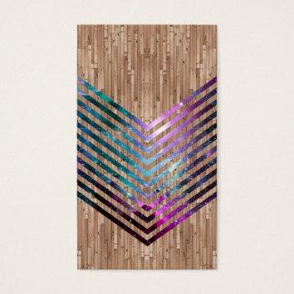 Cartão De Visitas Viga de madeira do espaço