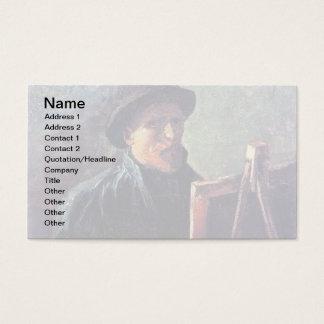Cartão De Visitas Vincent van Gogh - chapéu de feltro escuro do