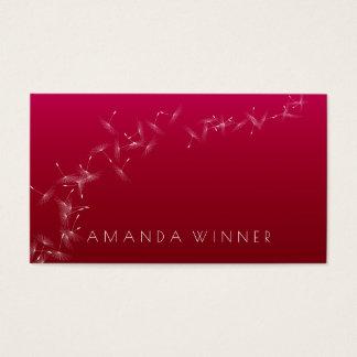 Cartão De Visitas Vinho Vip Glam de Rubin dos confetes do