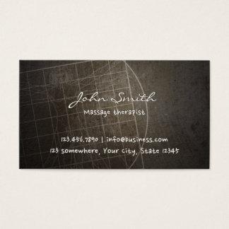 Cartão De Visitas Vintage do Chiropractor do terapeuta da massagem