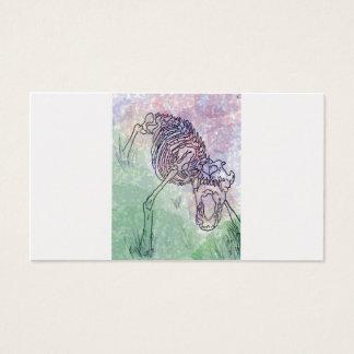 Cartão De Visitas Watercolour de esqueleto do lobo roxo/verde