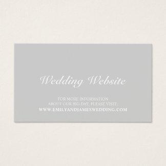 Cartão De Visitas Web site cinzento elegante do casamento