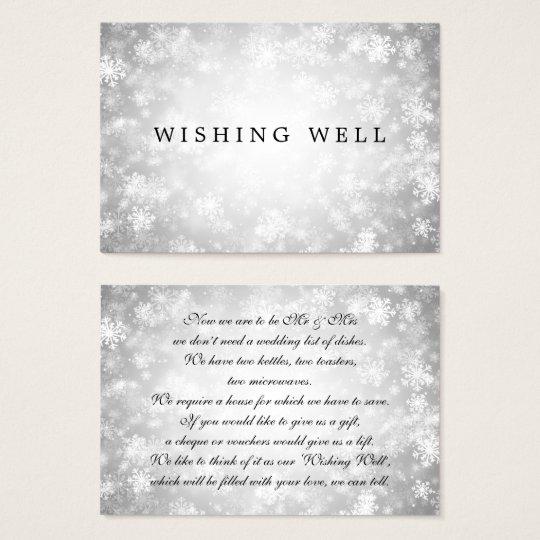 Cartão De Visitas Wedding desejando o país das maravilhas de prata