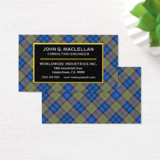 Cartão De Visitas Xadrez de Tartan escocesa de MacLellan do clã