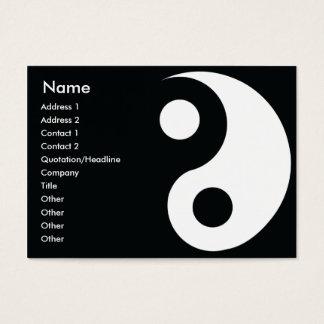 Cartão De Visitas Yin Yang - carnudo