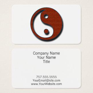 Cartão De Visitas Yin Yang por Shirley Taylor
