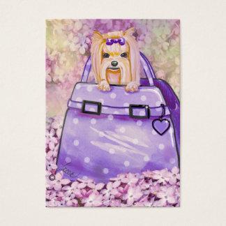 Cartão De Visitas Yorkie & Lilacs