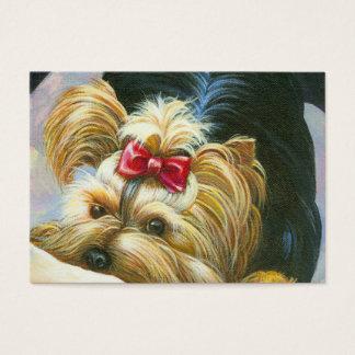 Cartão De Visitas Yorkshire terrier brincalhão