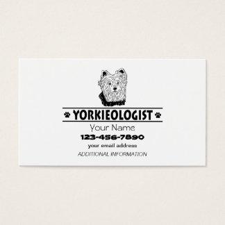 Cartão De Visitas Yorkshire terrier cómico