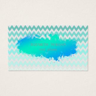 Cartão De Visitas Ziguezague moderno, Chevron, escova de pintura
