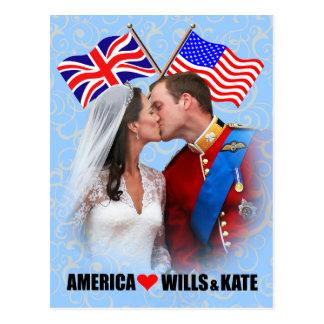 Cartão de William & de Kate - de América