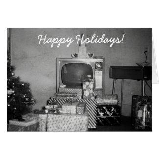 Cartão Decoração velha surpreendente do feriado do