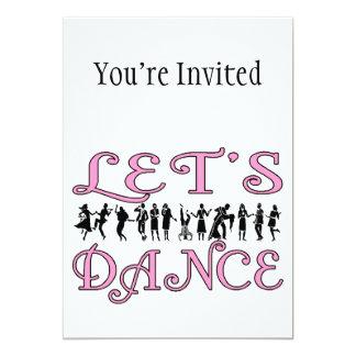 Cartão Deixe-nos dançar casais da dança