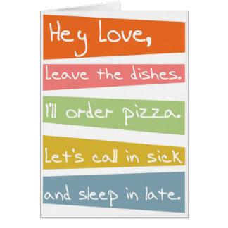 Cartão Deixe os pratos