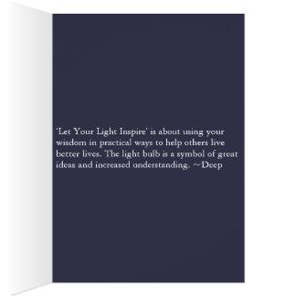 Cartão Deixe sua luz inspirar