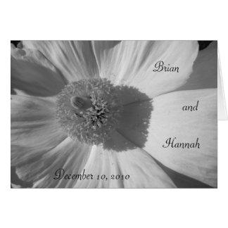 Cartão delicado do casamento/aniversário da