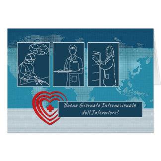 Cartão dell'Infermiere de Giornata Internazionale.