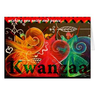 Cartão desejando lhe a unidade e a paz… Kwanzaa