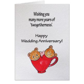 Cartão Desejos do aniversário de casamento